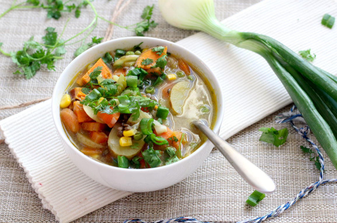 Spring Vegetable Soup - My Fruity Kitchen
