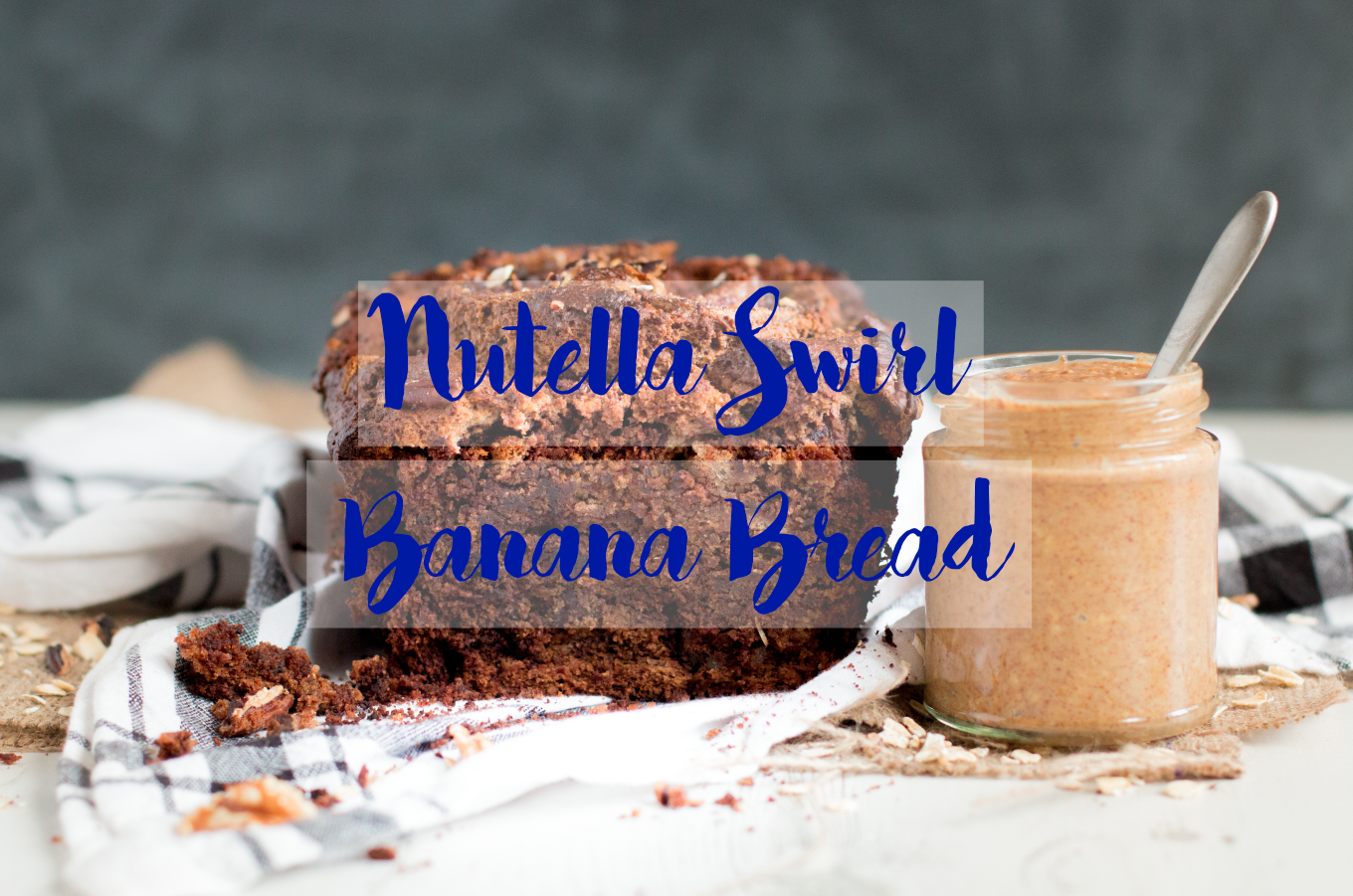 Vegan nutella swirl bread easy and simple to make with few ingredients Title